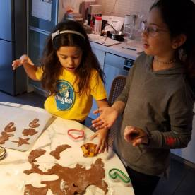 making cookies on christmas day