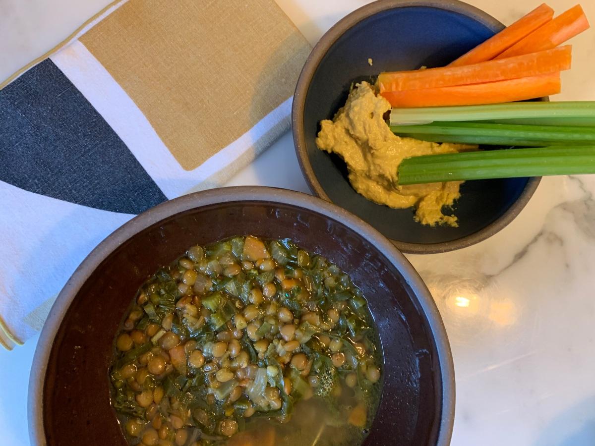 wintery lentil soup