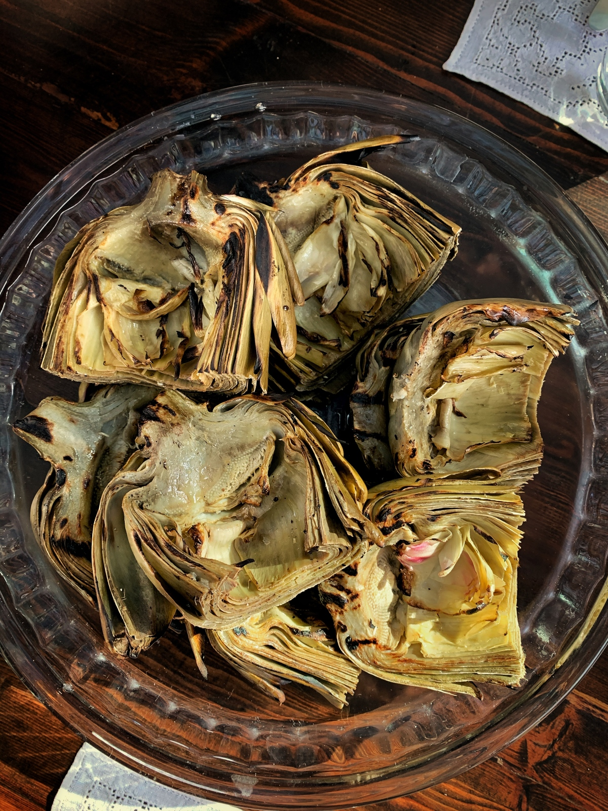 grilled artichokes…