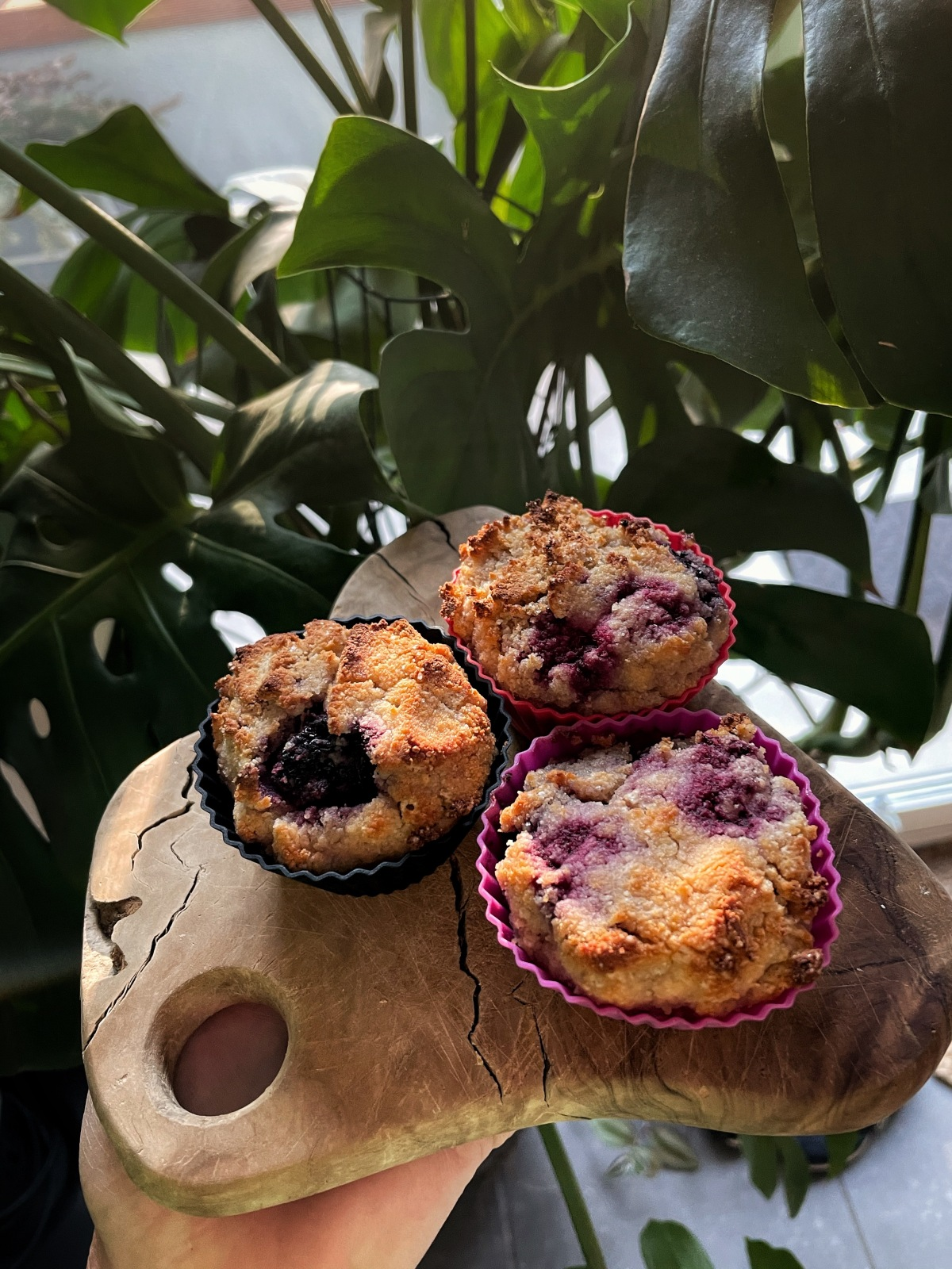 sunday muffins…. gluten free veryberry