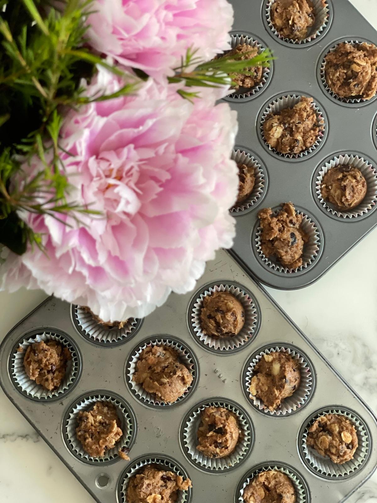 sunday muffins…gluten free and vegan chocolate chocolatechip…