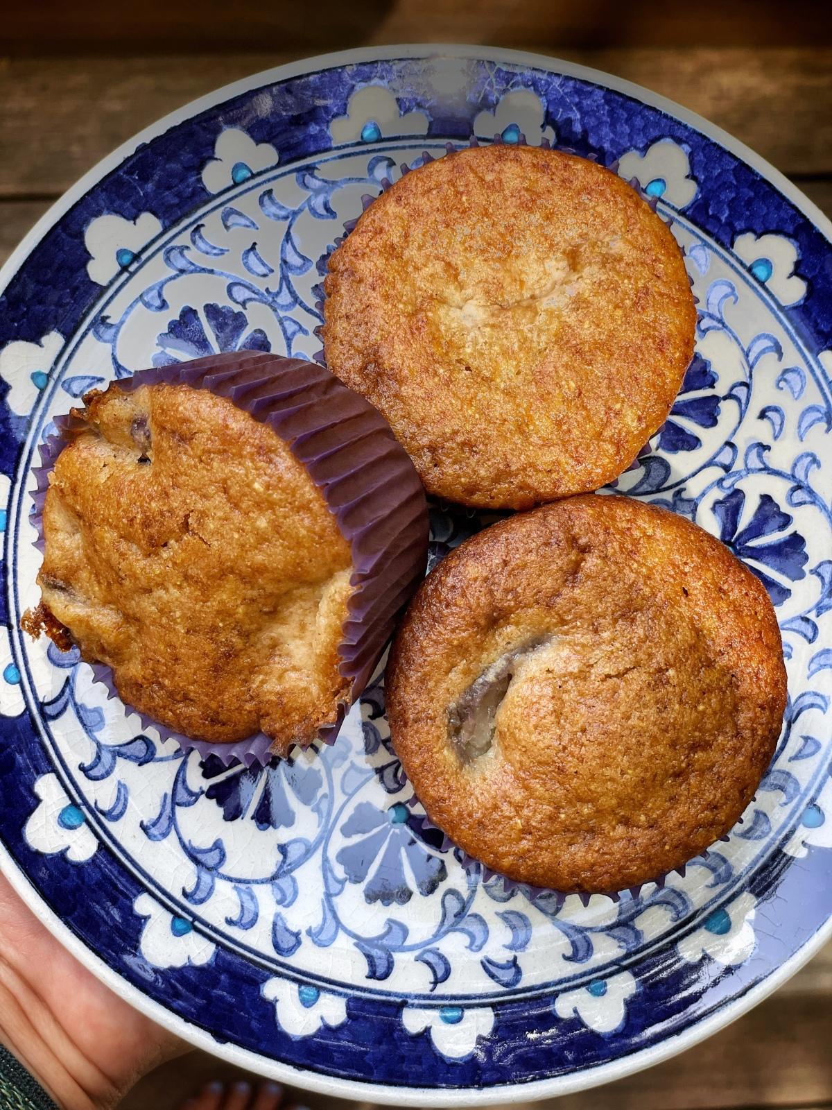 sunday muffins…gluten free peachcornmeal…
